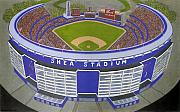 New York Mets Stadium Painting Posters - New York Mets Poster by David Hinchen