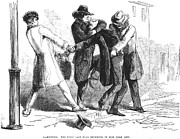 Thug Framed Prints - New York: Mugging, 1857 Framed Print by Granger