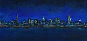 City Skylines Paintings - New York New York by Frances Marino