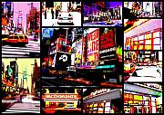 Cab Digital Art Framed Prints - New York New York  Framed Print by Funkpix Photo Hunter