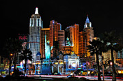 Orton Effect Prints - New York New York Hotel and Casino Print by Eddie Yerkish