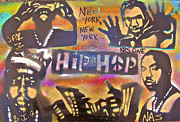 Jay Z Painting Framed Prints - New York New York Framed Print by Tony B Conscious