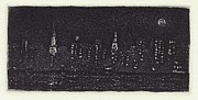 Part Of Drawings - New York Night 1 by Stephen Francis Duffy