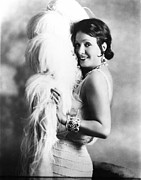 Ostrich Fan Prints - New York Nights, Norma Talmadge, 1929 Print by Everett