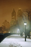 Snow Art - New York Nocturne by Max Ferguson