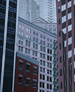 Los Angeles Skyline Paintings - New York Number Two by Bradley Reyes