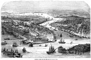 American City Prints - New York Panorama, 1860 Print by Granger
