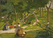 Families Prints - New York Park Print by George Luks