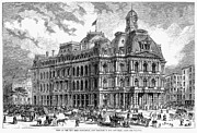 1870 Posters - New York: Post Office, 1870 Poster by Granger