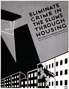 Slum Framed Prints - New York, Poster Promoting Planned Framed Print by Everett