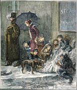 Manhattan Snow Posters - New York: Poverty, 1876 Poster by Granger