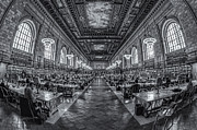 Rose Main Reading Room Prints - New York Public Library Main Reading Room IV Print by Clarence Holmes
