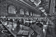 Rose Main Reading Room Prints - New York Public Library Main Reading Room VI Print by Clarence Holmes