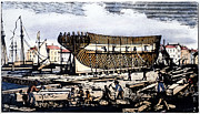 American City Prints - New York Shipyard, 1840 Print by Granger