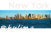 The New Deal Framed Prints - New York Skyline Framed Print by Syed Aqueel