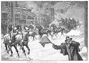 Snowstorm Art - New York: Snowstorm, 1887 by Granger