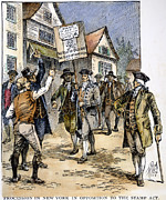 March Prints - New York: Stamp Act , 1765 Print by Granger