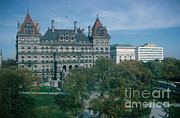 Capital Building Prints - New York State Capitol Building Print by Photo Researchers