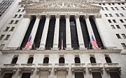 American Flags Prints - New York Stock Exchange Print by Bryan Mullennix