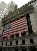New York Stock Exchange Prints - New York Stock Exchange Print by David Bearden