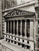 Depressions Posters - New York Stock Exchange Poster by Everett