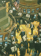 New York Stock Exchange Prints - New York Stock Exchange Print by Gloria  Nilsson