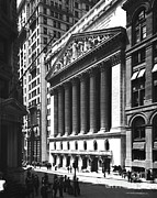 Stock Markets Framed Prints - New York Stock Exchange Framed Print by Photo Researchers
