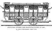 American City Prints - New York: Streetcar, 1831 Print by Granger
