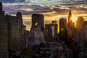 Sun Flare Posters - New York Sunrise Poster by Janet Fikar