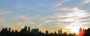Randi Shenkman Photo Metal Prints - New York Sunset 2 Metal Print by Randi Shenkman