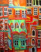 Litvack Paintings - New York Tenement 2 by Michael Litvack