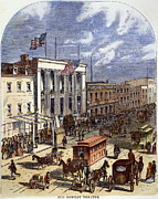 Bowery Framed Prints - New York: The Bowery, 1871 Framed Print by Granger