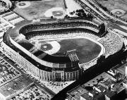 Aerial View Framed Prints - New York: Yankee Stadium Framed Print by Granger