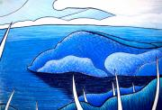 Organic Pastels Originals - New Zealand Bay by Jason Allen