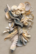 Shells Mixed Media - New Zealand Opus 01 by Carol Zee