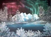 Snowy Night Paintings - Newart 3 by Joyce Blair