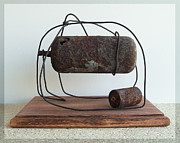 Rusty Sculpture Prints - Newborn  Print by Snake Jagger