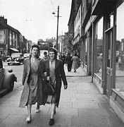 Mid Adult Women Posters - Newcastle Street Poster by Bert Hardy