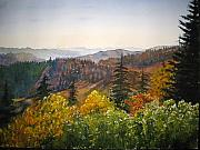 Smokey Mountains Paintings - Newfound Gap by Shirley Braithwaite Hunt