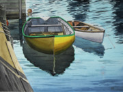 Dory Paintings - Newfoundland dory by Geoffrey Goodwin