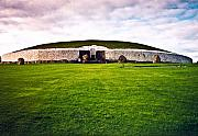 Celts Prints - Newgrange Morning Print by Douglas Barnett