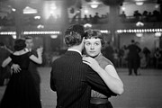 Ballroom Posters - Newlywed Dance Poster by Kurt Hutton