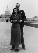 First Ladies Prints - Newlywed Lyndon And Lady Bird Johnson Print by Everett