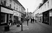 Pedestrian Prints - newmarket street in Ayr town centre scotland uk Print by Joe Fox