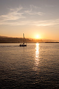 Bay Photo Prints - Newport Bay Corona Del Mar Sunrise Print by Paul Velgos