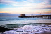 Morning Prints - Newport Beach CA Pier at Sunrise Print by Paul Velgos