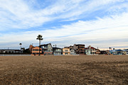 Newport Beach Oceanfront Houses Print by Paul Velgos
