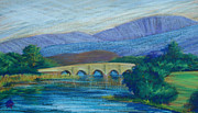 Bridge Drawings - Newport Bridge County Mayo by Tina McCurdy