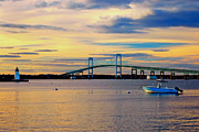 New England Lighthouse Prints - Newport Harbor 2 Print by Joann Vitali