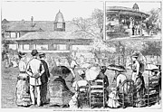 Lawn Tennis Framed Prints - Newport: Lawn Tennis, 1882 Framed Print by Granger